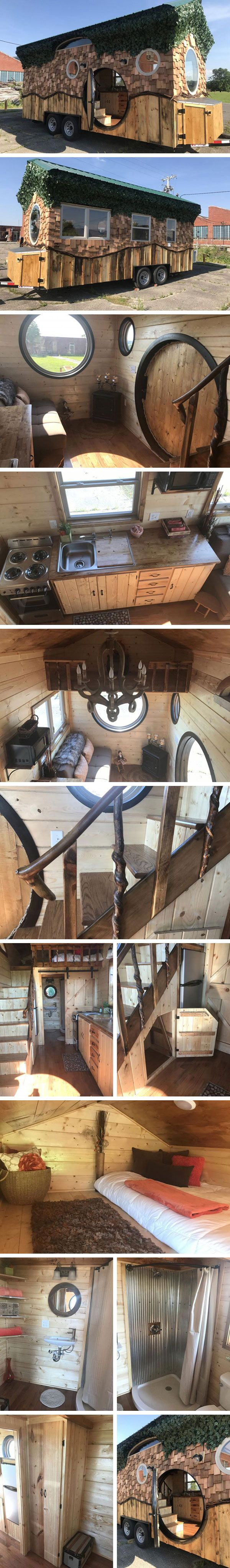Дом на колесах Hobbit Hole от Incredible Tiny Homes #tinyhomesdigest #tinyhouse #houseonwheels #camper