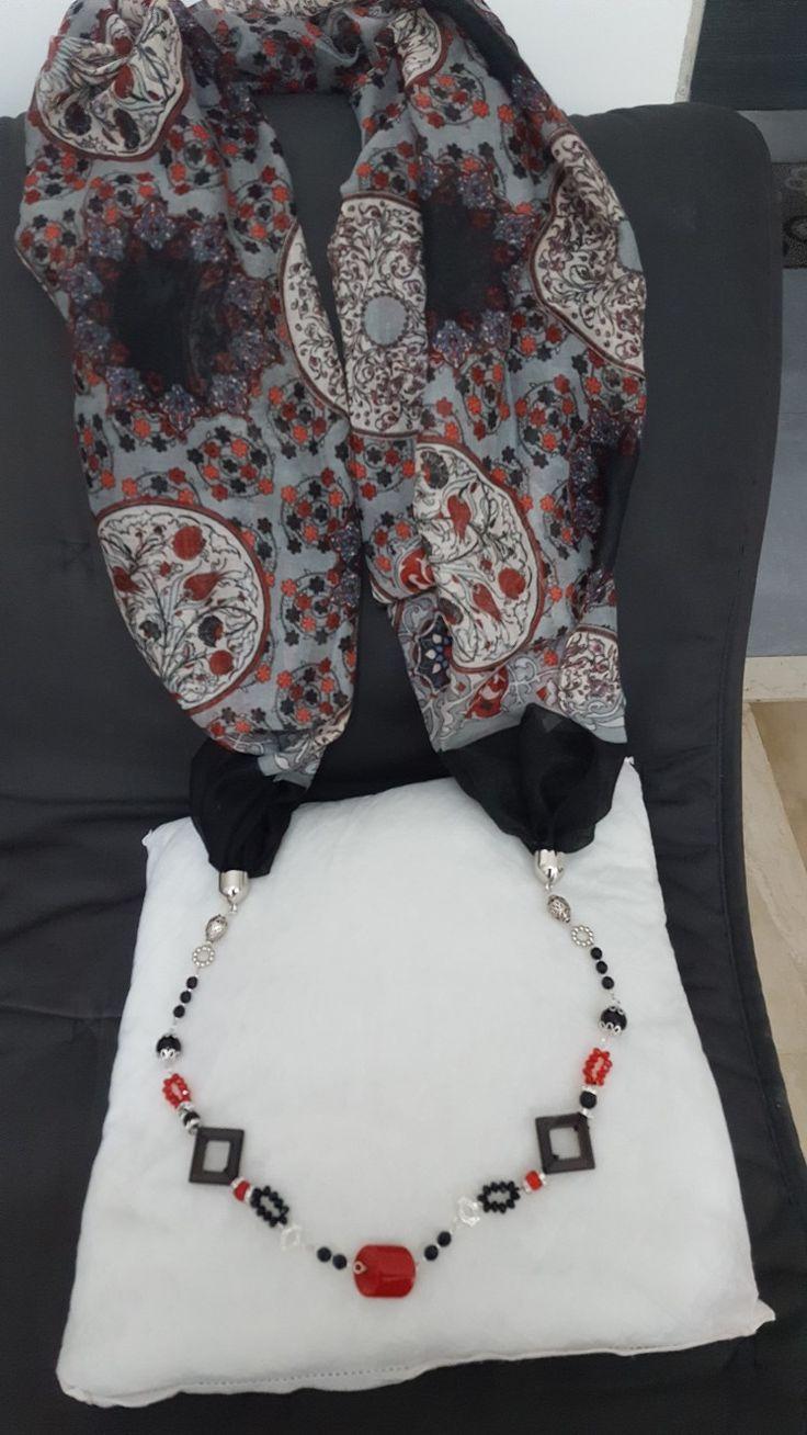 Foulard gioiello realizzato da me
