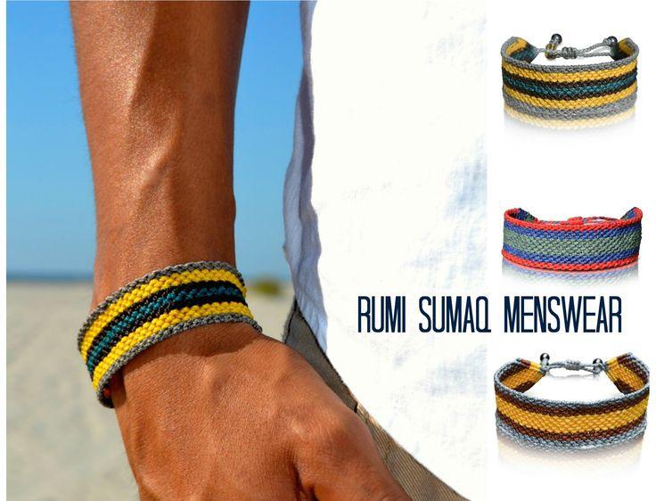 Men's macrame bracelet #menswear