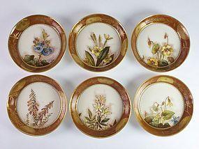 6 Pinder Bourne Burslem Aesthetic Movement pottery dish