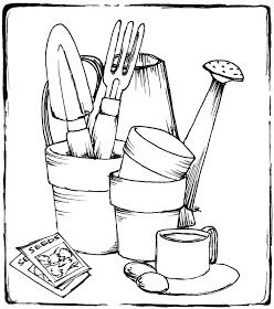 kids gardening tools coloring pages - photo#21