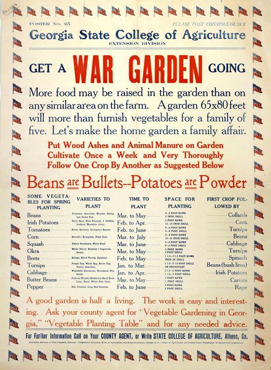Get a war garden going -- A good garden is half a living. The work is easy and interesting.