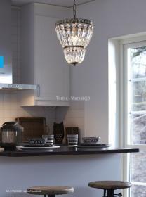 aranżacja wnętrz - Wykorzystano oprawę SUNDSBY /oświetlenie kuchni/