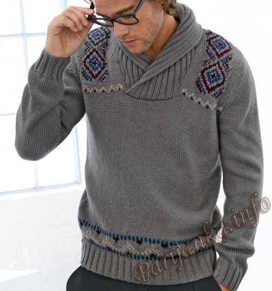 Пуловер (м) 716 Сreations 2013-2014 Bergere de France №3841