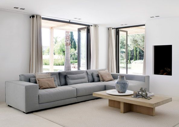The right drapes will work for a modern minimalist interior