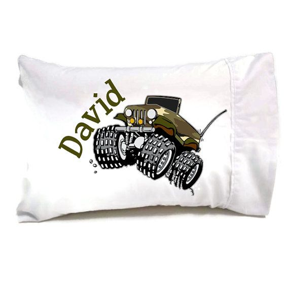 Kids Travel Pillow for your 4 Wheelin' Little by ItsyBitsyWear, $18.00