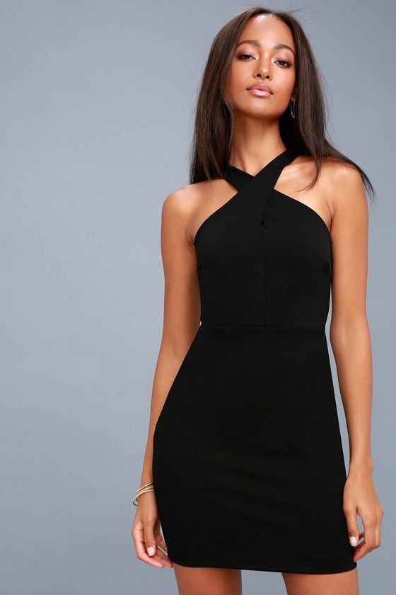 d7c1b549f4b9 Live for the night in the Thrive Black Sleeveless Bodycon Dress!  Medium-weight stretch knit falls from tank straps