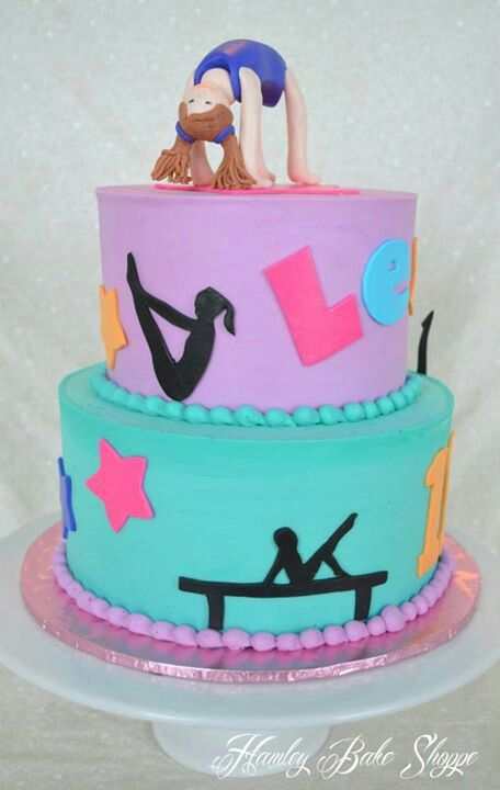 Gymnastics Cake Birthday Cupcakes