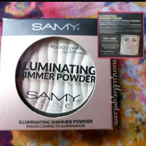 Hermoso iluminador de samy preferible en pieles medias-claras