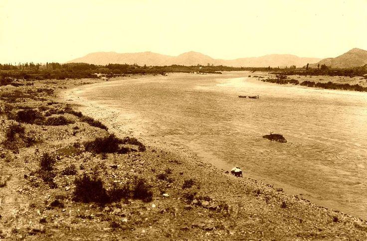 Rivera del río Claro en Talca. Ca. 1928