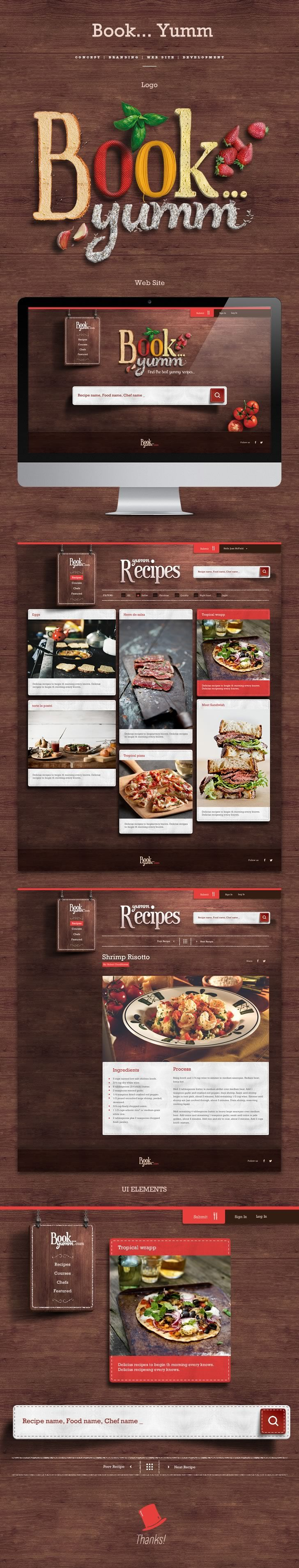 http://fixedagency.com/ Branding | Concept | Web Site | Development - A cookbook that includes a cooking course featuring advice from well-known chefs around the world.