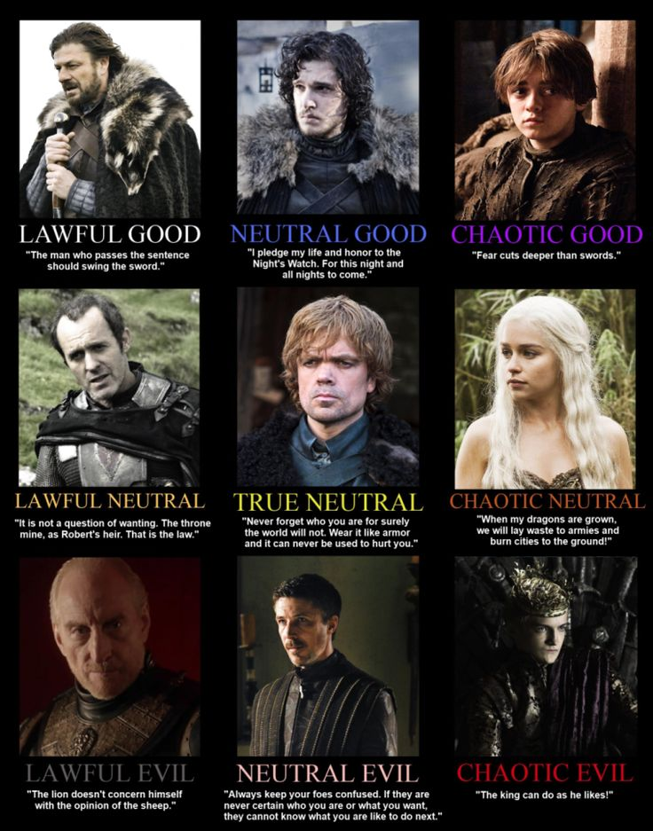 Tyrion is the embodiment of true neutral.