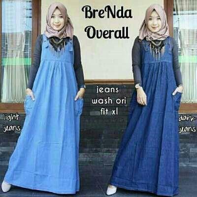 Beli Busana Remaja Brenda Overall Jeans Washed Unik - https://www.butikjingga.com/busana-remaja-brenda-overall-jeans-washed