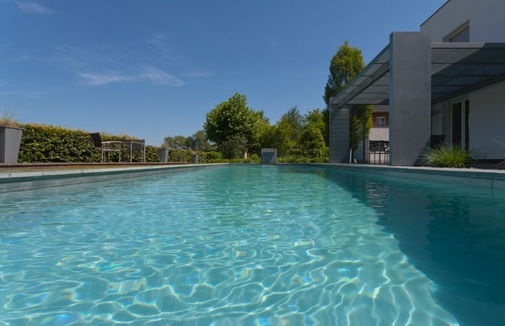 Looks like a conventional pool but requires absolutely no chlorine or other chemicals and offers the ultimate in swimming enjoyment in crystal clear water. #chemicalfree #swimming #naturalpool