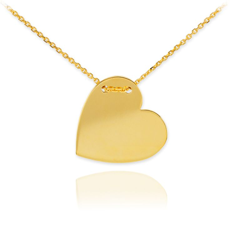 20 best trendy pendants and necklaces images on pinterest 14k gold engravable heart necklace aloadofball Choice Image