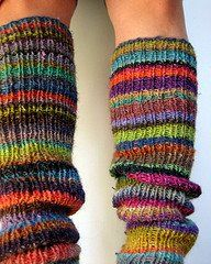 Leg Warmers to Knit or Crochet - pattern looks easy enough. I might try them this summer.