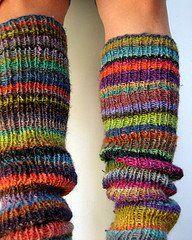 Knitted boot socks