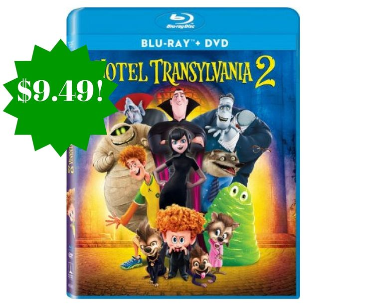 Amazon: Hotel Transylvania 2 Blu-ray + DVD Only $9.49 (Reg. $26) - http://www.couponsforyourfamily.com/amazon-hotel-transylvania-2-blu-ray-dvd-only-9-49-reg-26/