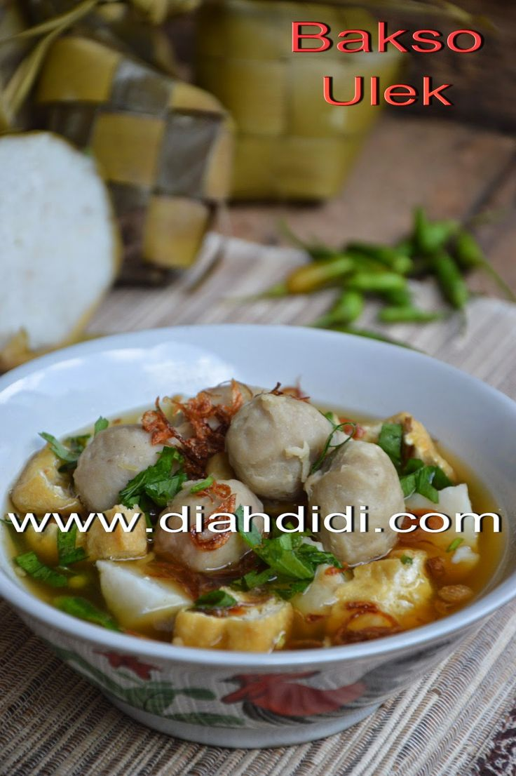 Diah Didi's Kitchen: Bakso Lombok Ulek...Bakso Khas Temanggung Yang Unik..