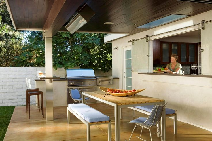 21 best images about window pass through on pinterest for Modern outdoor kitchen designs