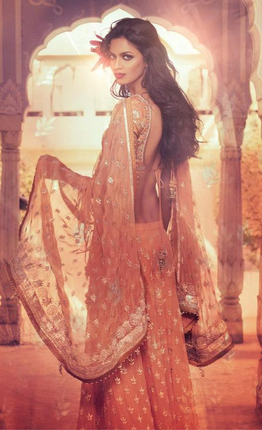 Bridal Dress  Made in bright bridal colors, such as red, maroon, gold or green, bridal dress comprises of saree, lehenga or salwar kurta. It truly brings out the eternal beauty of the bride.