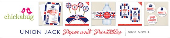 Union Jack party ideas - for a positively smashing British theme party!   Chickabug