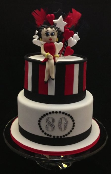 Betty Boop 80th Birthday Cake  Cake by cjsweettreats