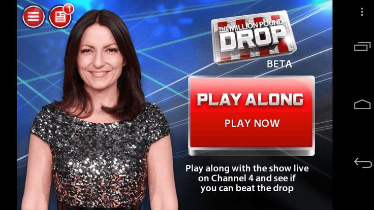 Fans of The Million Pound Drop, listen up! Now you can play along live with the show - wherever you are…<br/><br/>FEATURES<br/>• Play along live with the TV show wherever you are<br/>• Apply to be a contestant on the live show direct from the app<br/>• Connect with Facebook to compete against friends and others<br/>• Share your score on Facebook & Twitter to show off your skills<br/><br/>PLAY ALONG LIVE*<br/>Don't just scream at the TV - prove you can do better than the contestants by…