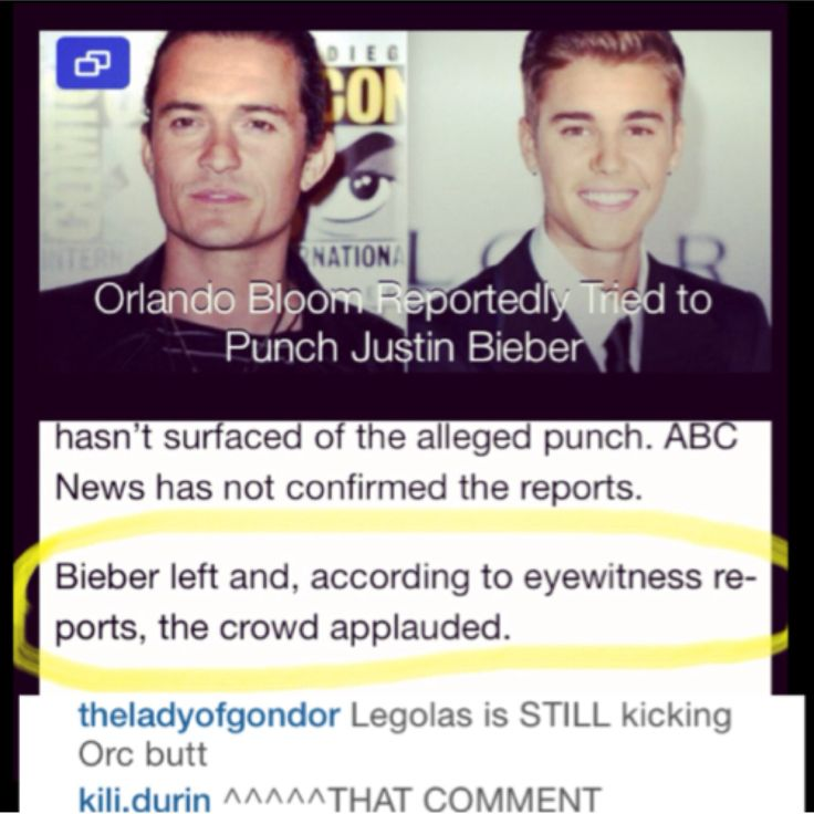 ATTENTION EVERYONE: ORLANDO BLOOM REPORTEDLY TRIED TO PUNCH JUSTIN BIEBER. I repeat: LEGOLAS SWUNG AT BIEBER <---- lol