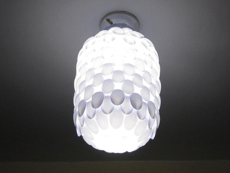 1000 images about recycled for Diy spoon lamp
