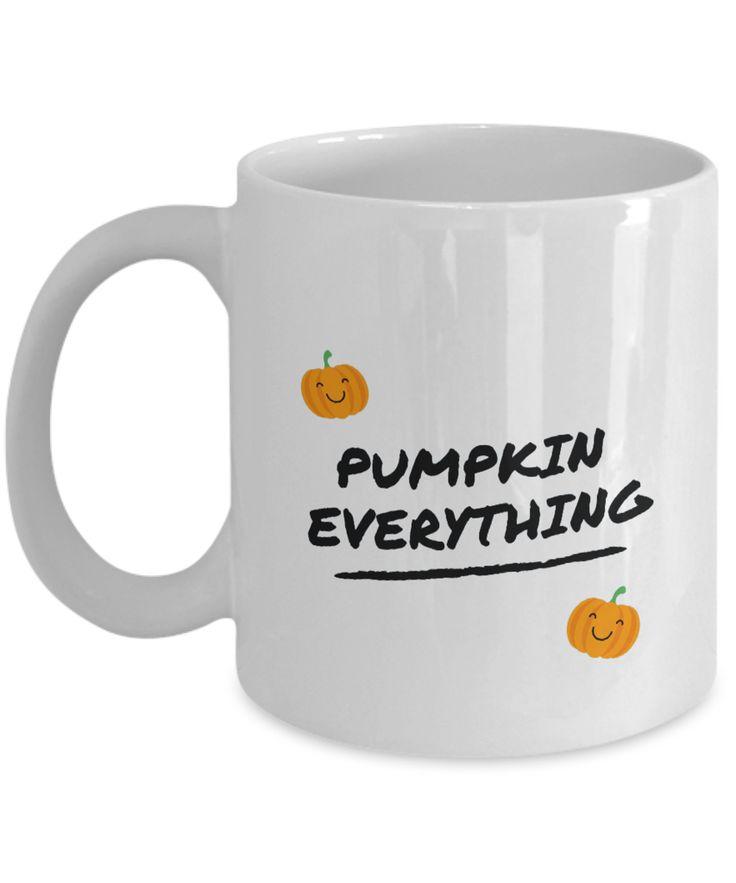 Pumpkin Everything Coffee Mug 4 Gift Tea Cup White