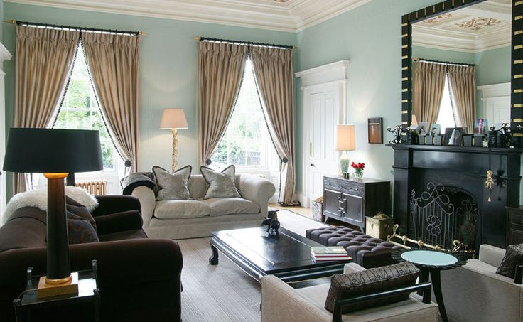 A Victorian House with Oriental influence and a love of Black and Pastels combined