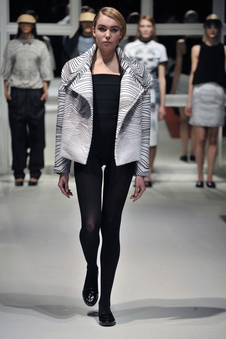 Look 4: Roadie Coat with Sober Leotard