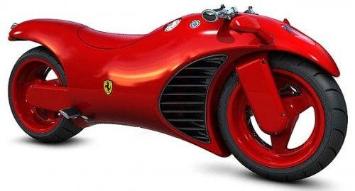 Super motocykl Ferrari v4