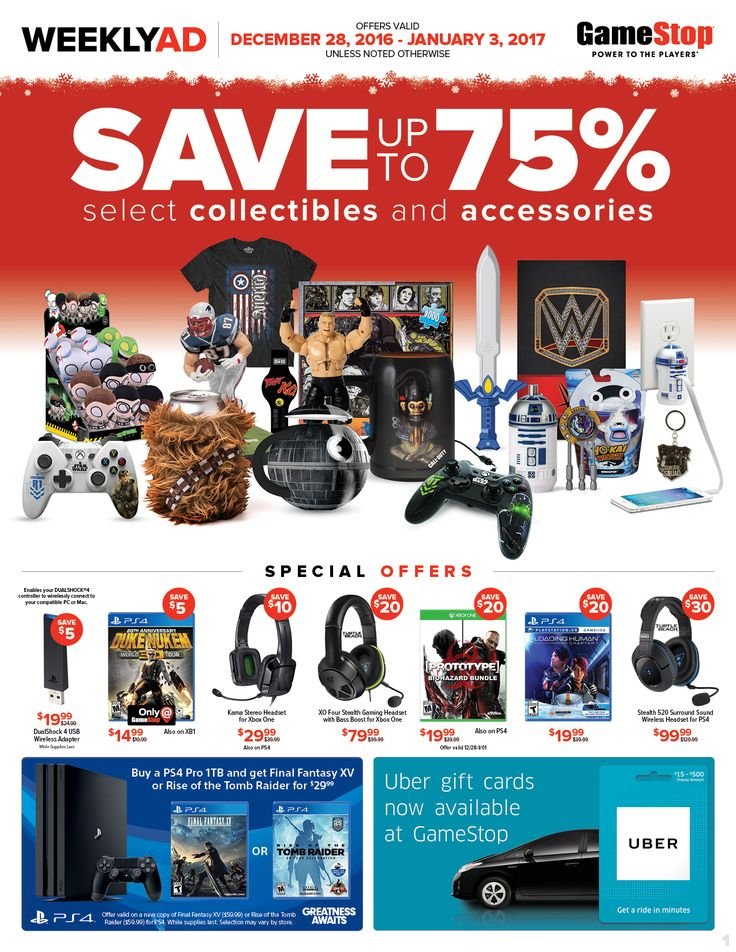 Game Stop Weekly Ad December 28 - January 3, 2017 - http://www.olcatalog.com/game-stop/game-stop-weekly-ad.html