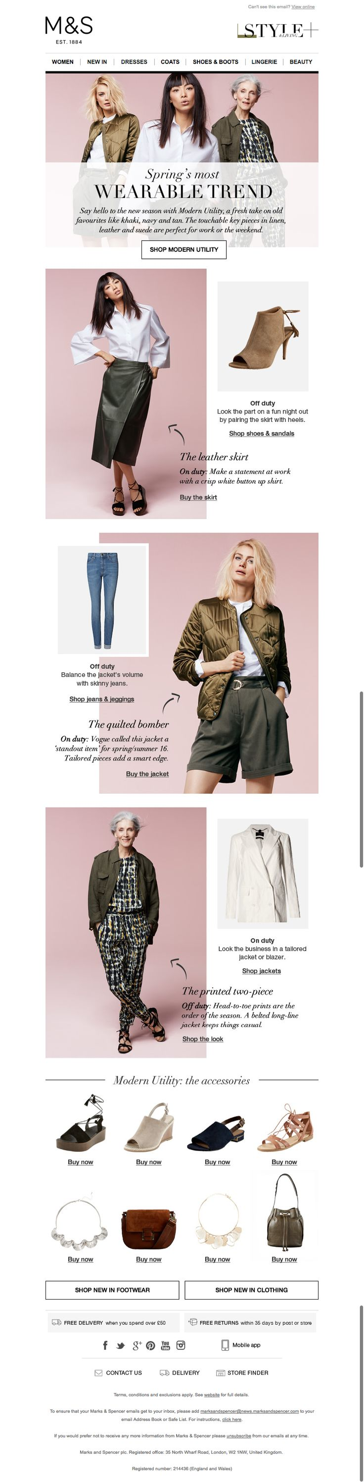 marks and spencer email march 2016 wearable trend
