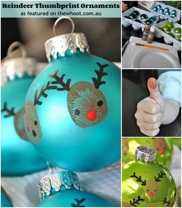 thumb print ornaments