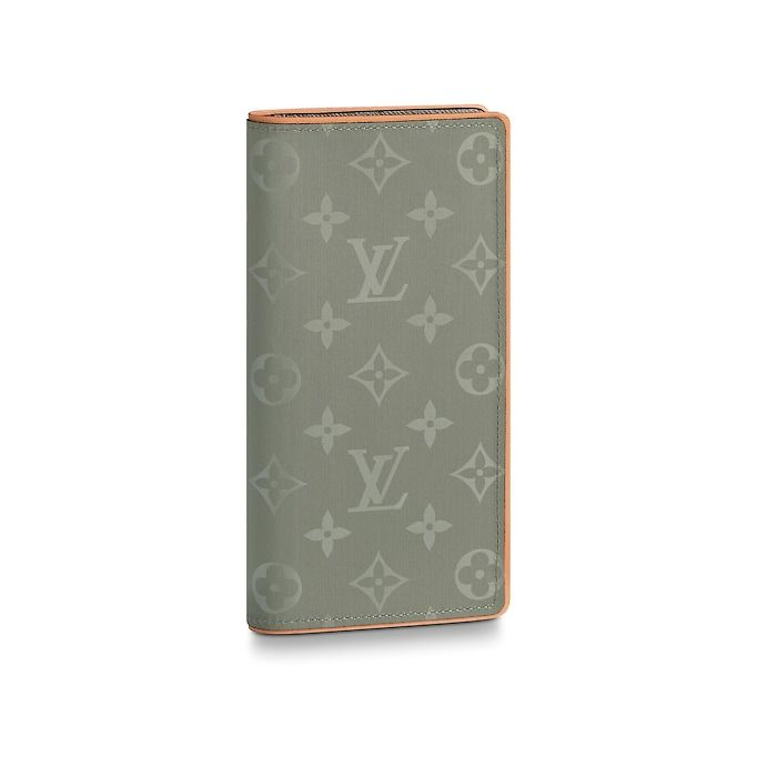 05f7507d8e94 View 1 - Monogram Titanium SMALL LEATHER GOODS Long Wallets Brazza Wallet