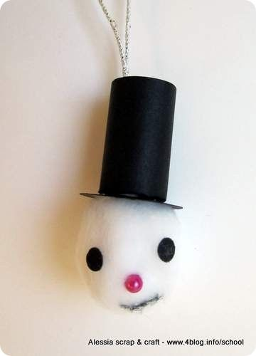 Countdown Natale: snowman pupazzo di neve di cotone