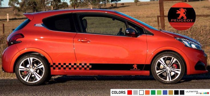 Decal sticker Stripe kit For PEUGEOT 208 cc Graphics door bumper arm racing 2009 #Ultimateprocy1