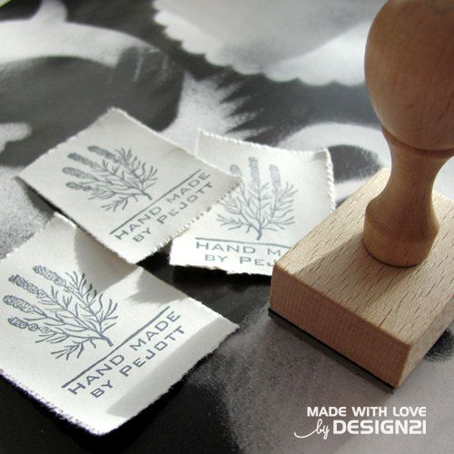 Lavender personalised rubber stamp by lida21 on Etsy, $16.00