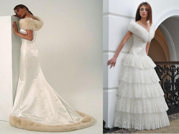 Свадебное платье с мехом купить