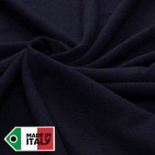 Tissu Velours de laine uni bleu nuit