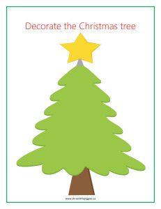 Christmas Tree playdough mat