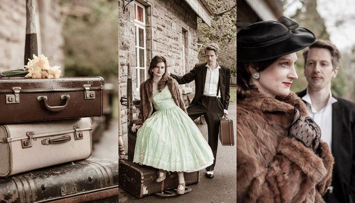 1940s Vintage Railway E-Shoot, UK | Confetti Daydreams - Vintage Pre-Wedding and Engagement Shoot Inspiration (Charlene Morton Photography) ♥ #Vintage #E-Shoot #EShoot #Engagement  #1940s ♥  ♥  ♥ LIKE US ON FB: www.facebook.com/confettidaydreams  ♥  ♥  ♥
