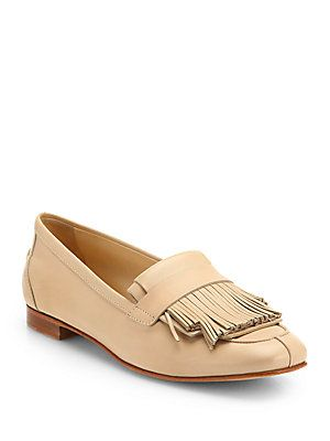 Tod's Leather Fringe Loafers