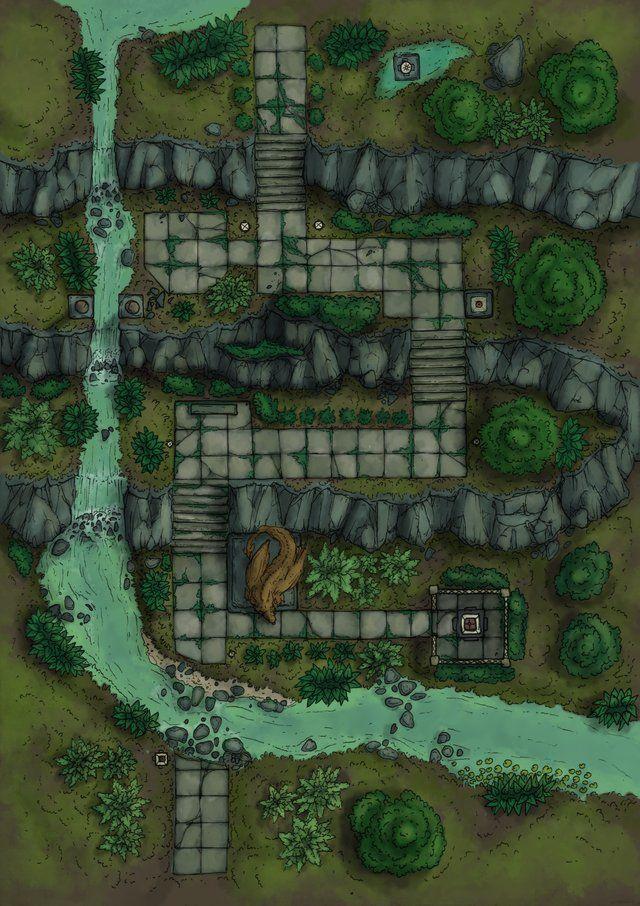 Dragon Shrine - Muddy Variant : battlemaps   Art ...