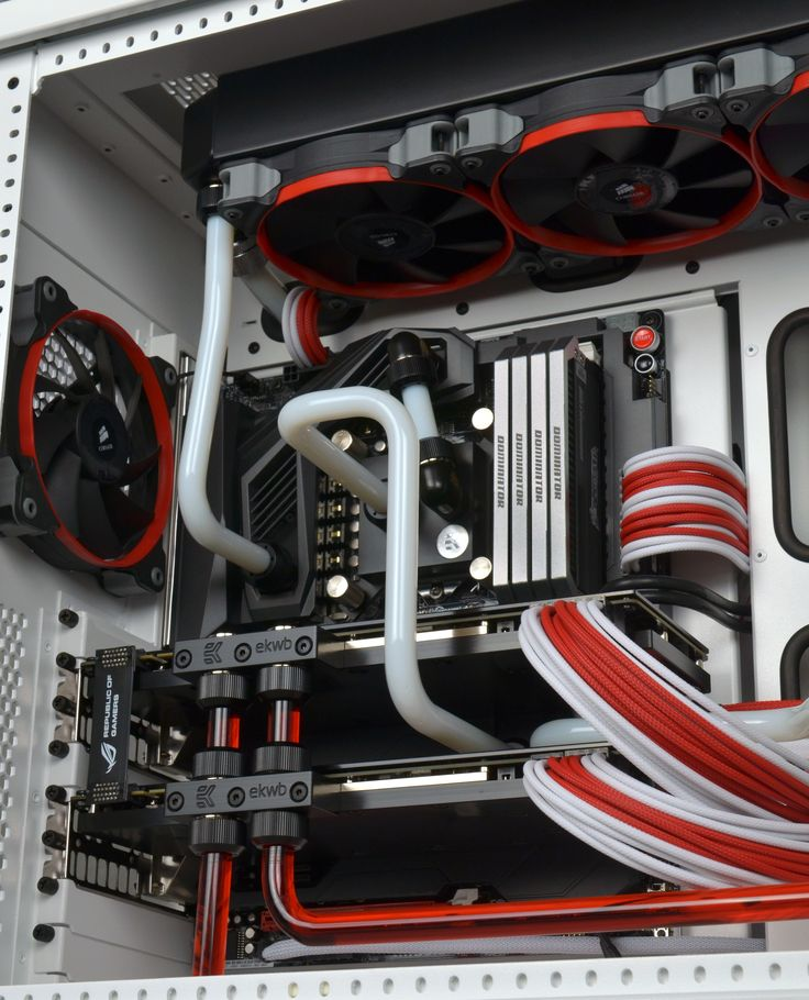 Red and white water cool build : custom pc wiring - yogabreezes.com