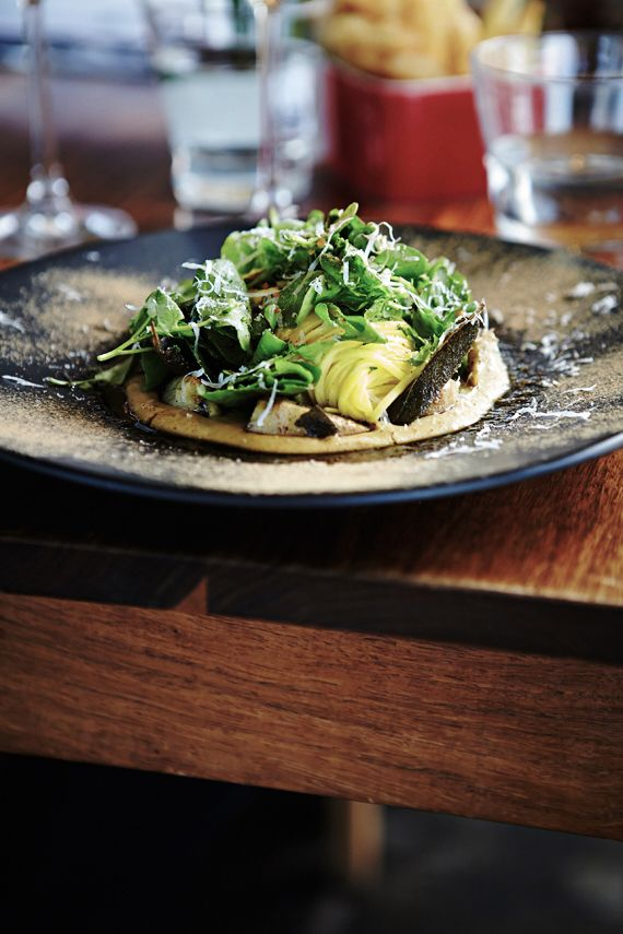 Buttered fettuccini with new season artichoke puree, crispy sage & watercress salad @ Jordan Restaurant, Stellenbosch | South Africa