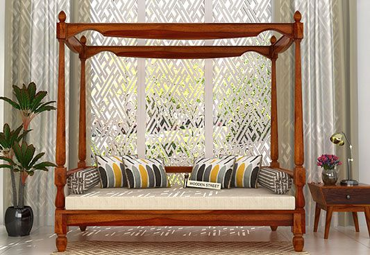 Get Allure Poster Divan in lovely Honey Finish from Wooden Street. The unique style of divan bed online reflects amazing grace and makes the interiors look immensely beautiful. Buy Divans online in #Delhi #Ahmedabad #Hyderabad